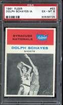 1961-62 FLEER #63 DOLPH SCHAYES PSA 6