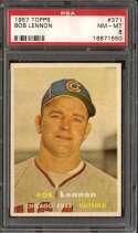 1957 TOPPS #371 BOB LENNON PSA 8