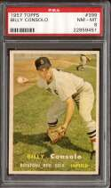 1957 TOPPS #399 BILLY CONSOLO PSA 8