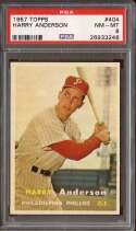 1957 TOPPS #404 HARRY ANDERSON PSA 8 RC ROOKIE