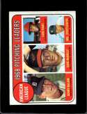 1969 TOPPS #9 DENNY MCLAIN/DAVE MCNALLY/LUIS TIANT/MEL STOTTLEMYRE A.L. PITCHING LEADERS VGEX