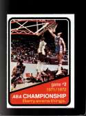1972-73 TOPPS #242 ABA PLAYOFFS GAME 2 NMMT