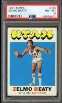 1971-72 TOPPS #165 ZELMO BEATY PSA 8 (RC) HOF