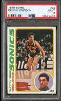 1978-79 TOPPS #78 DENNIS JOHNSON PSA 9 (RC) HOF