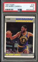 1987-88 FLEER #16 JOE BARRY CARROLL PSA 9
