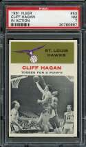 1961-62 FLEER #53 CLIFF HAGAN PSA 7 HOF