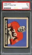 1949 LEAF #31 TEX COULTER PSA 5