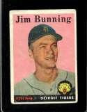 1958 TOPPS #115 JIM BUNNING UER FAIR HOF