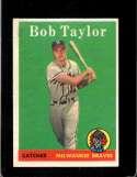 1958 TOPPS #164 BOB TAYLOR FAIR (RC)