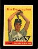 1958 TOPPS #129 JIM DERRINGTON GOOD (RC)