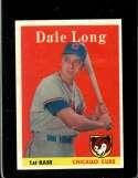 1958 TOPPS #7 DALE LONG GOOD+