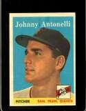 1958 TOPPS #152 JOHNNY ANTONELLI EXMT