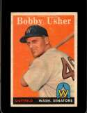 1958 TOPPS #124 BOB USHER EXMT