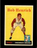 1958 TOPPS #131 BOB HENRICH EXMT (RC) NICELY CENTERED
