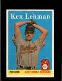 1958 TOPPS #141 KEN LEHMAN EXMT