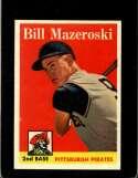 1958 TOPPS #238 BILL MAZEROSKI EXMT HOF