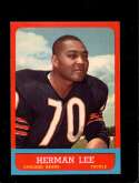 1963 TOPPS #67 HERMAN LEE EXMT NICELY CENTERED