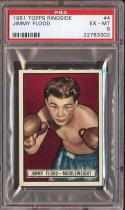 1951 TOPPS RINGSIDE #4 JIMMY FLOOD PSA 6 NICELY CENTERED