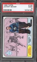 1968 TOPPS #122 JOHNNY BOWER PSA 9 MAPLE LEAFS