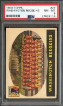 1958 TOPPS #27 REDSKINS TEAM PSA 8