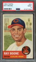 1953 TOPPS #25 RAY BOONE PSA 9 INDIANS