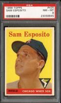 1958 TOPPS #425 SAM ESPOSITO PSA 8 WHITE SOX