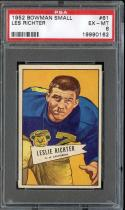 1952 BOWMAN SMALL #61 LES RICHTER HOF RC PSA 6 RAMS