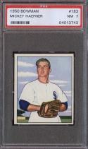 1950 BOWMAN #183 MICKEY HAEFNER PSA 7 WHITE SOX
