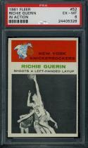 1961 FLEER #52 RICHIE GUERIN IA PSA 6 KNICKS