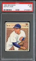 1950 BOWMAN #196 DOYLE LADE PSA 7 CUBS