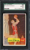 1957-58 TOPPS #70 JACK COLEMAN SGC 6.5 HAWKS