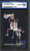 1992 UPPER DECK #1 SHAQUILLE O'NEAL RC ISA 10 MAGIC