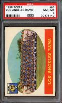 1958 TOPPS #85 LOS ANGELES RAMS PSA 8 NICELY CENTERED