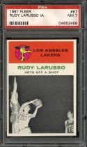 1961 FLEER #57 RUDY LARUSSO IA PSA 7 LAKERS