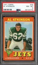 1971 TOPPS #48 AL ATKINSON PSA 8 JETS CENTERED