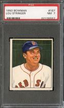 1950 BOWMAN #187 LOU STRINGER PSA 7 RED SOX