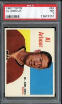 1960 TOPPS #64 AL ARBOUR PSA 7 BLACK HAWKS
