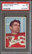 1952 BOWMAN SMALL #49 JERRELL PRICE PSA 8 CARDINALS NICELY CENTERED