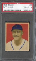 1949 BOWMAN #96 TAFT WRIGHT PSA 8 ATHLETICS NICELY CENTERED