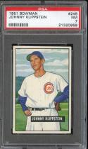 1951 BOWMAN #248 JOHNNY KLIPPSTEIN PSA 7 CUBS