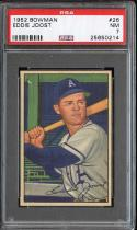 1952 BOWMAN #26 EDDIE JOOST PSA 7 ATHLETICS