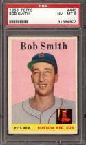 1958 TOPPS #445 BOB SMITH PSA 8 RED SOX