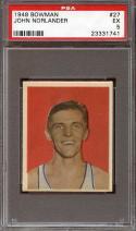 1948 BOWMAN #27 JOHN NORLANDER PSA 5 CAPITOLS