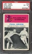 1961 FLEER #45 PAUL ARIZIN IA PSA 6 WARRIORS