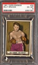 1951 TOPPS RINGSIDE #74 BILLY GRAHAM PSA 6