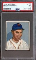 1950 BOWMAN #175 MONTE KENNEDY PSA 7 GIANTS