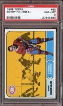 1968 TOPPS #65 BOBBY ROUSSEAU PSA 8 CANADIENS