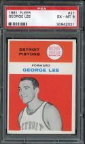 1961 FLEER #27 GEORGE LEE PSA 6 PISTONS