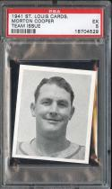 1941 ST. LOUIS CARDS MORTON COOPER TEAM ISSUE PSA 5