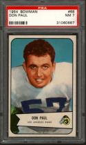 1954 BOWMAN #68 DON PAUL PSA 7 RAMS
